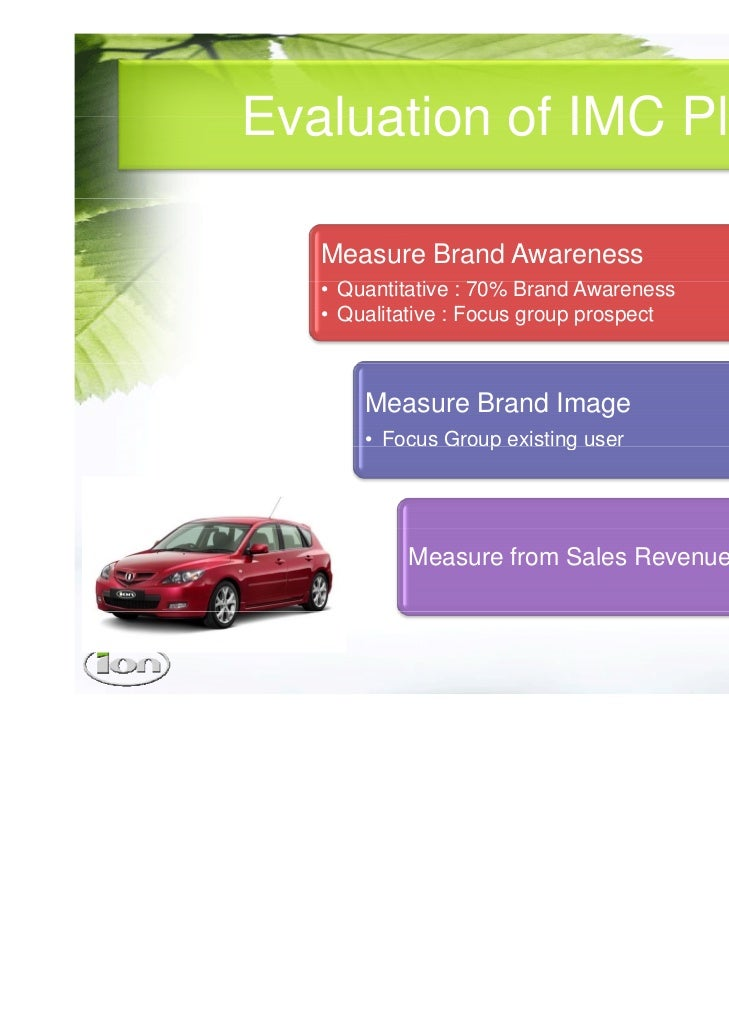 imc plan conclusion Free essay: 1 - executive summary this integrated marketing communication plan has been produced by means of the brand milo the imc plan will demonstrate a.