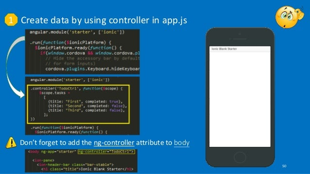 Developing Hybrid Applications with IONIC