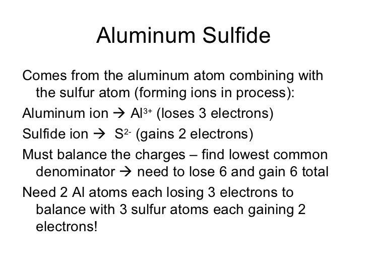 Lewis Dot Diagram For Aluminum Sulfide Wiring Diagram