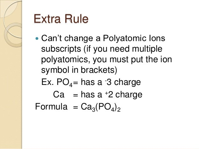 Po4 Charge: Ionic Compounds Naming