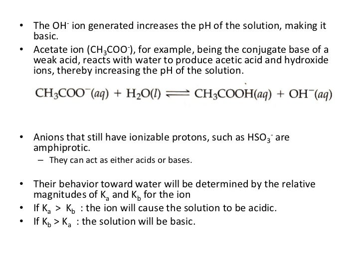 Ionic equilibria two