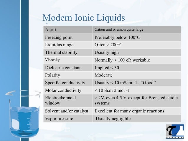 Liquids With A Room Temperature Freezing Point