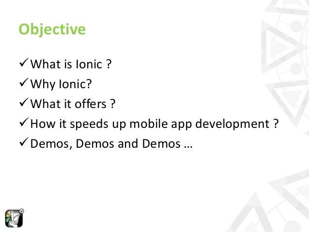 Rapid mobile app development using Ionic framework