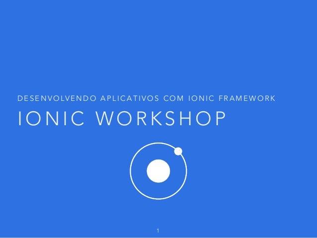 Ionic workshop