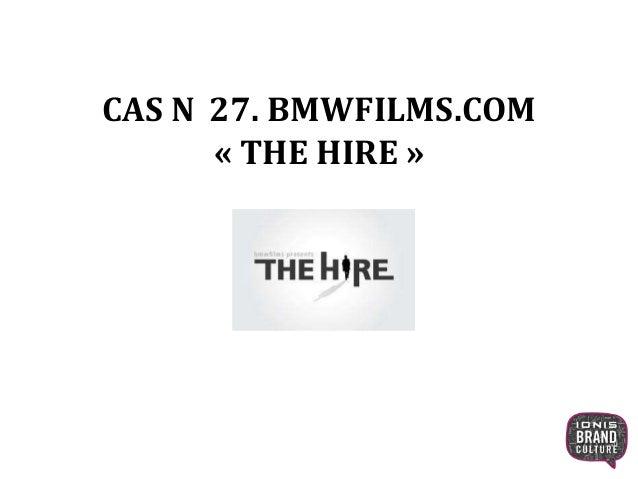 CAS N 27. BMWFILMS.COM « THE HIRE » 1