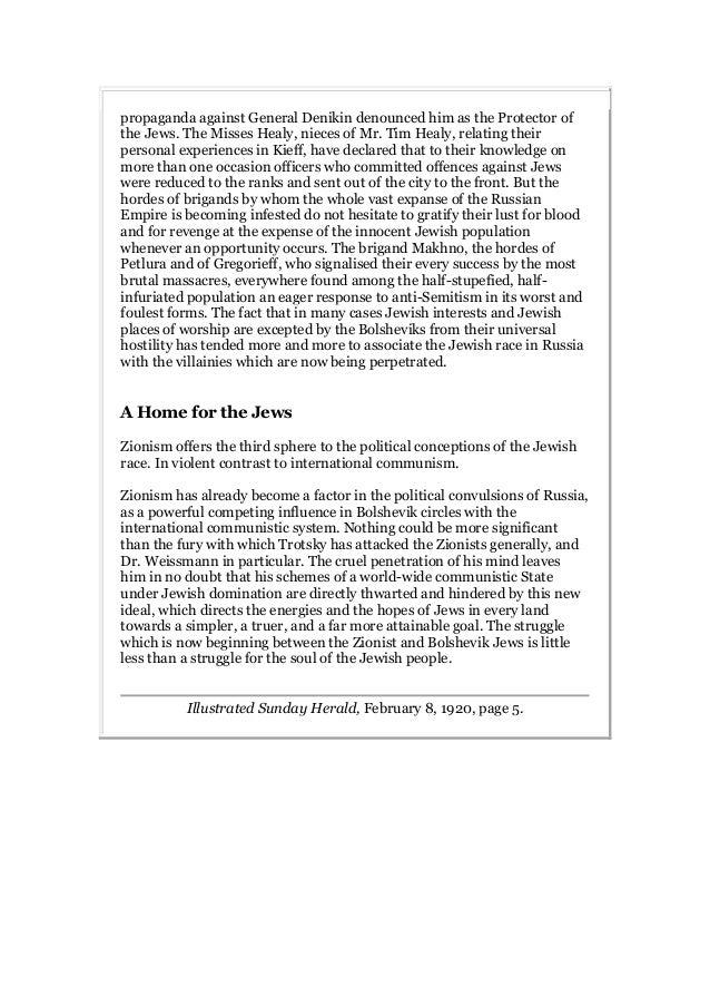 Zionism versus bolshevism Slide 3