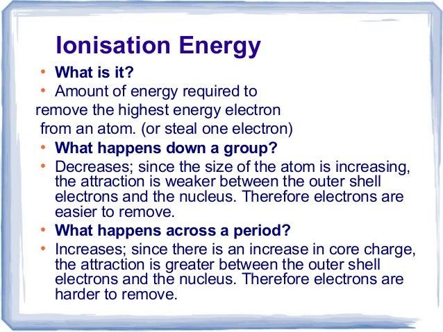 ionization trend
