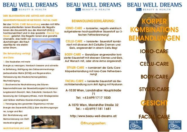 SKIN REJUVENATION UND AKTIVES ANTI AGING QUANTENPHYSIKALISCHE METHODE– FACIAL CARE Bei der FACIAL CARE Behandlung werden m...
