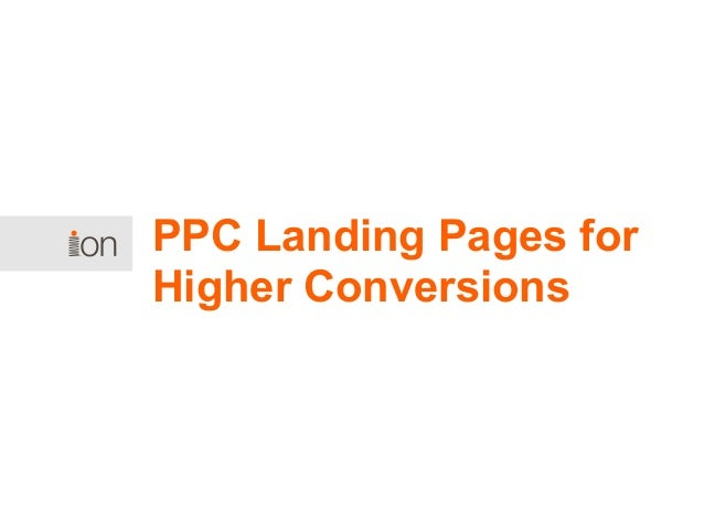 PPC Landing Pages for Higher Conversions