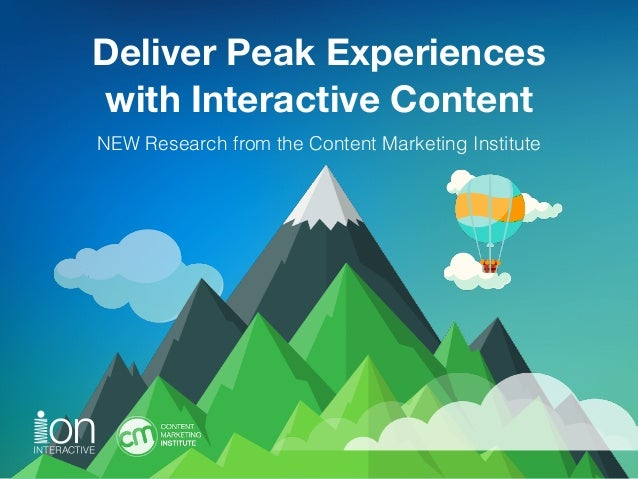 Deliver Peak Experiences 
