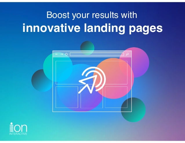 Boost your results with innovative landing pages