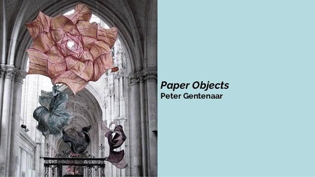 Paper Objects Peter Gentenaar Paper Prototype