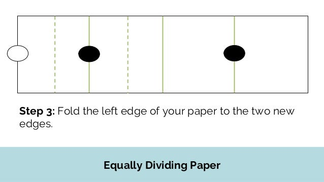 Rule for Equal Divisions For every new edge that is created, fold the left and right edges of your paper to the new edge.