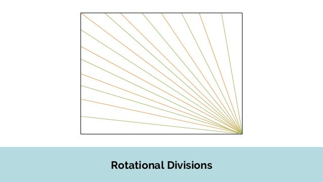 Rotational Divisions Cut two half circles with similar arcs.