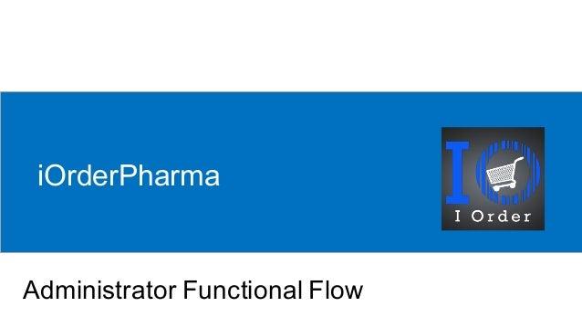 iOrderPharma Administrator Functional Flow