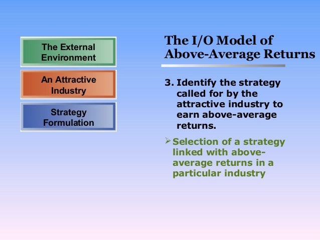 The Benefits of an Industrial Organization Model Strategy