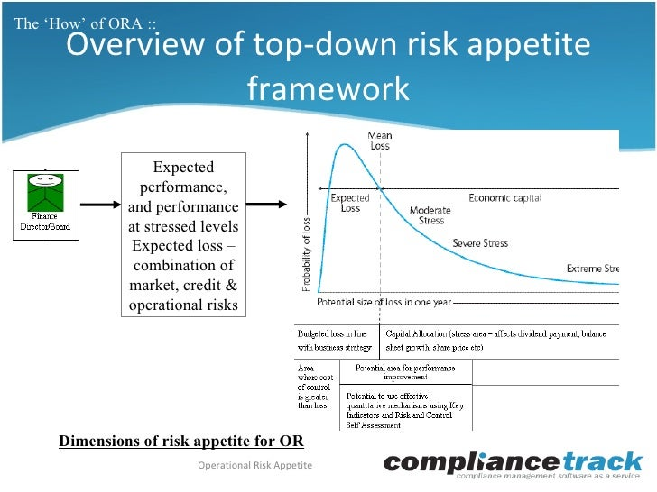 Operational risk appetite ora why what how for Risk appetite template