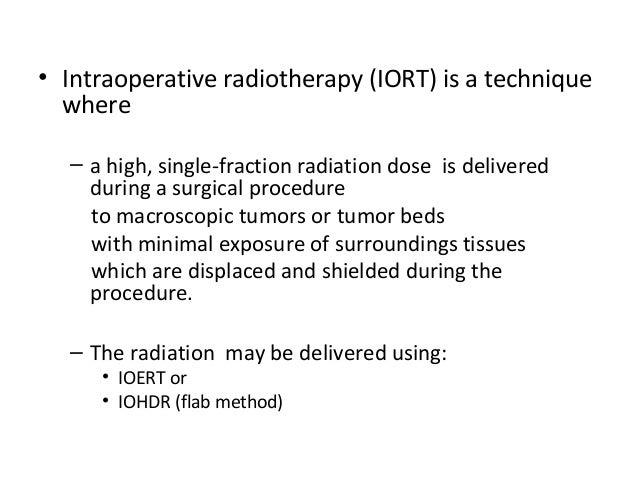 Intra Operative Radiotherapy Slide 3