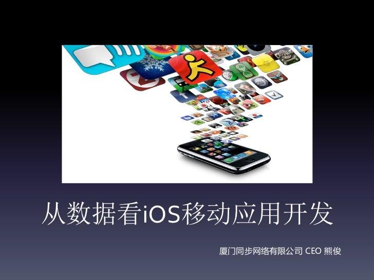 从数据看iOS移动应用开发       厦门同步网络有限公司 CEO 熊俊