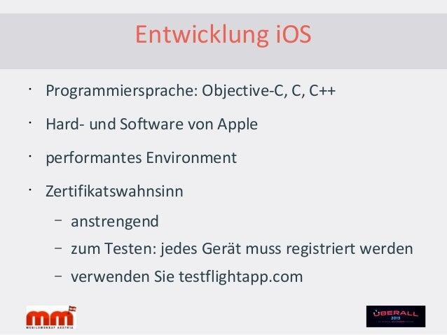 Entwicklung iOS – Beispiel