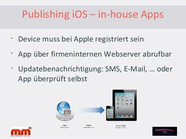 Publishing iOS – Update der App•Neue Version– 3-4 Tage oder länger (Apple Review)– Update-Informationen im App Store angeb...