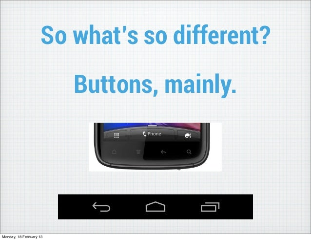 So what's so different?                         Buttons, mainly.Monday, 18 February 13