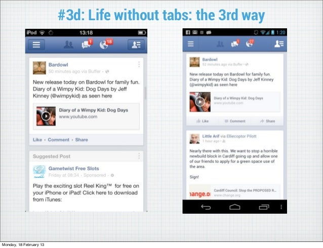 #3d: Life without tabs: the 3rd wayMonday, 18 February 13
