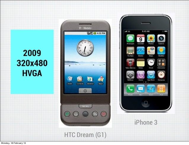 iPhone 3                         HTC Dream (G1)Monday, 18 February 13