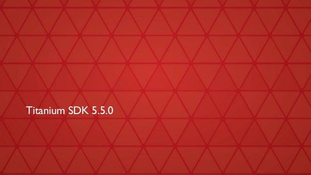 Titanium SDK 5.5.0