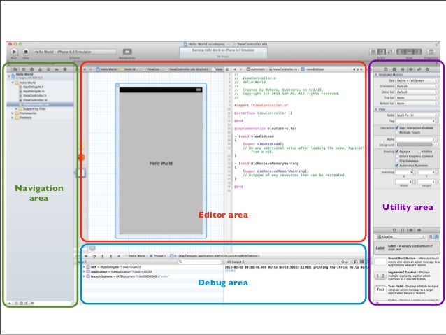 Run on Simulator or Device  Switch editors and views