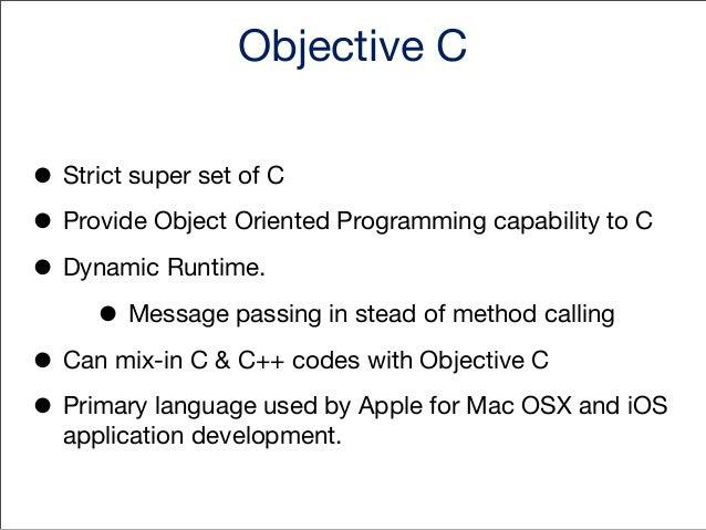 Objective C Class #import <Foundation/Foundation.h> @interface Cat : NSObject { int numberOfEyes; float lengthOfMyCat;  }  ...