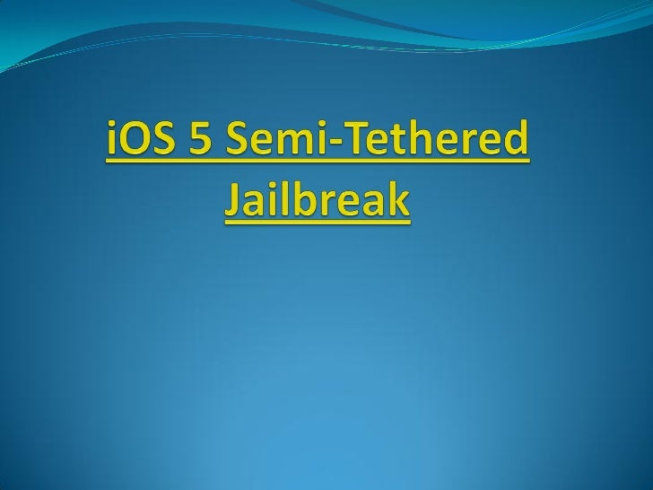 Introduction : Although iPhone Dev team and Chronic Dev team  work onto bring untethered iOS 5 jailbreak, however,  it do...