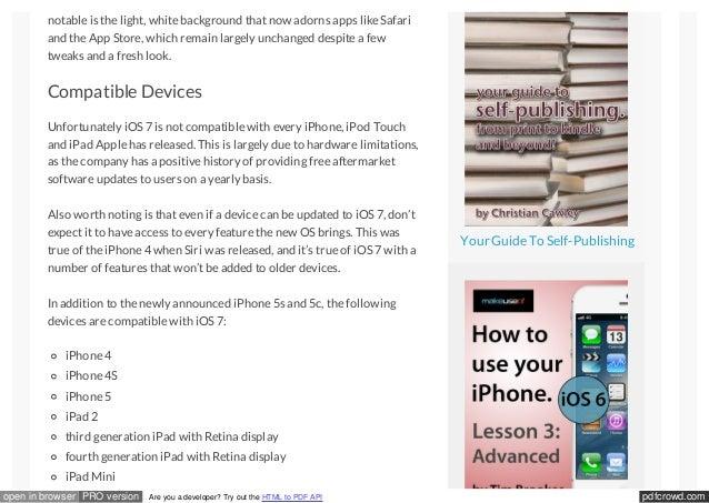 iOS 7 Guide