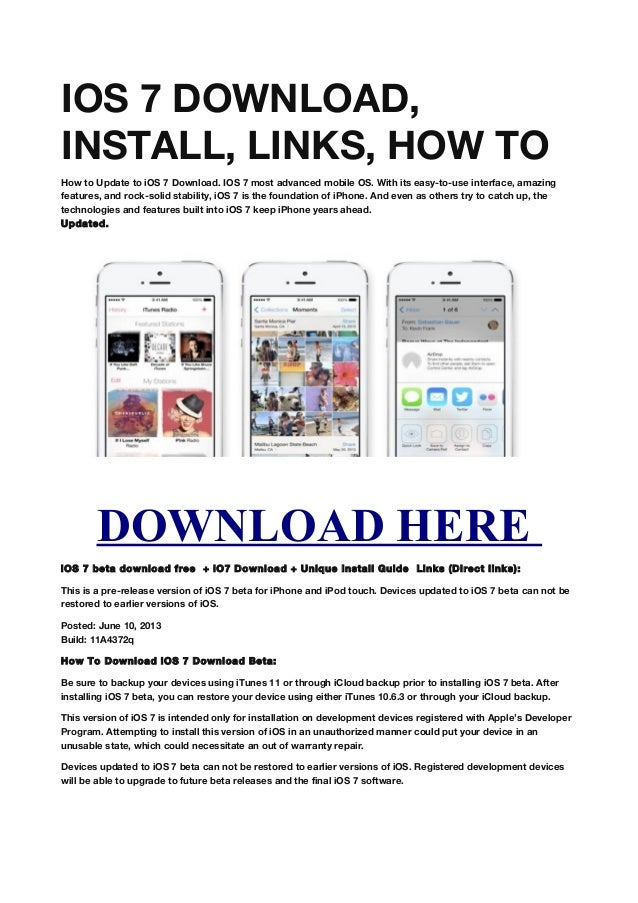 how to get ios 7 on ipod touch 4