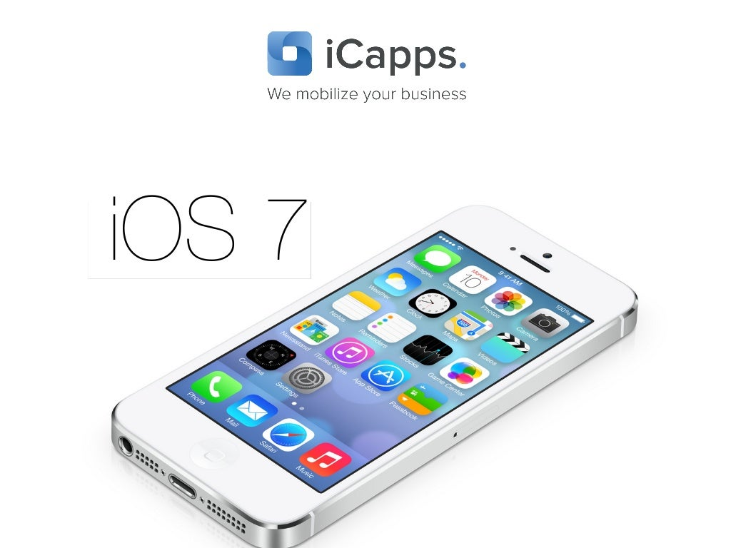 Keynote about iOS 7, focused on design & how we must rethink apps of our clients