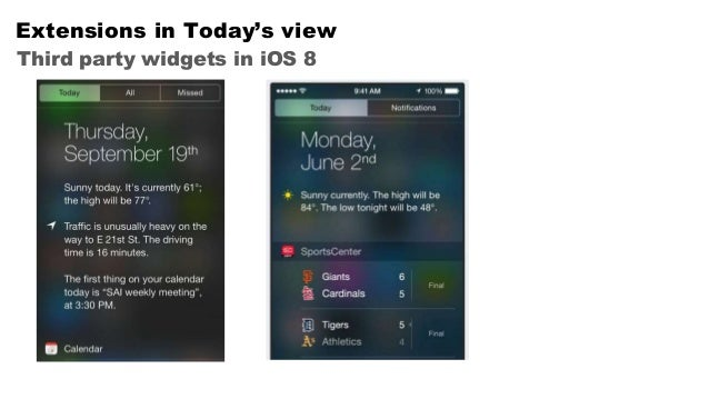 iOS 8 - Overview of the new features Slide 3