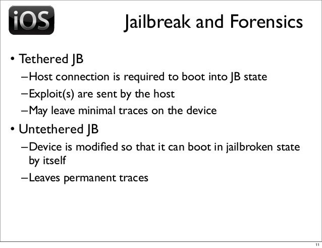 iOS and BlackBerry Forensics
