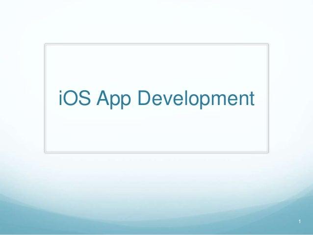 iOS App Development 1