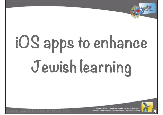iOS apps to enhanceJewish learning