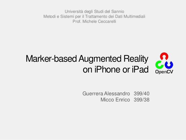 Marker-based Augmented Monuments on iPhone and iPad
