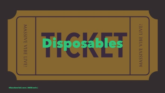 Disposables EliaszSawicki.com ( @EliSawic )