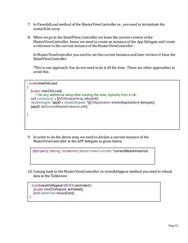 iOS Contact List Application Tutorial
