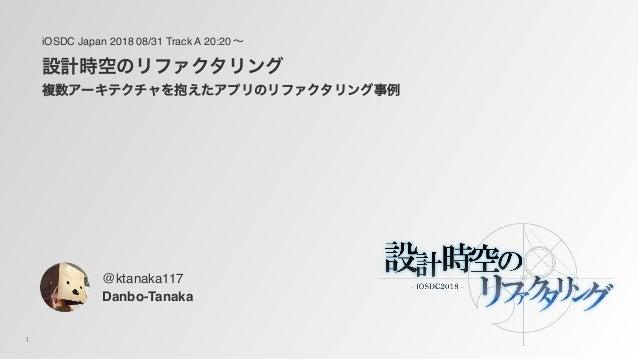 1 iOSDC Japan 2018 08/31 Track A 20:20 Danbo-Tanaka @ktanaka117