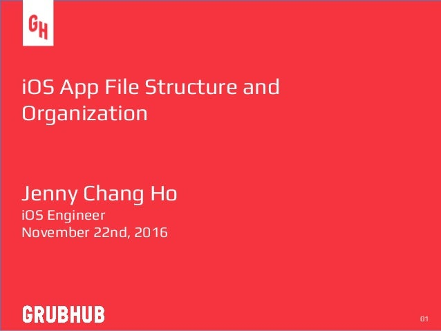 iOS App File Structure and Organization Jenny Chang Ho iOS Engineer November 22nd, 2016 01