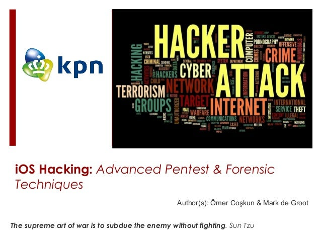 Author(s): Ömer Coşkun & Mark de Groot iOS Hacking: Advanced Pentest & Forensic Techniques The supreme art of war is to su...