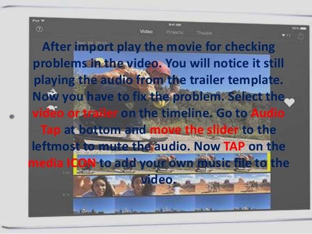 iOS iMovie: How to add custom music to Movie Trailer