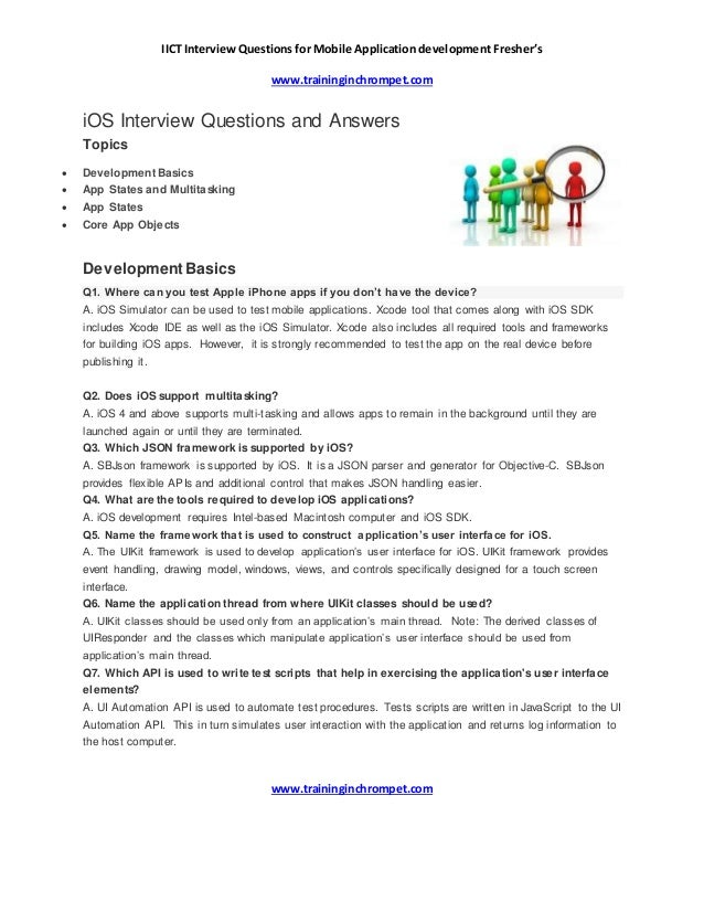 Ios Interview Question And Answer Iict Chromepet