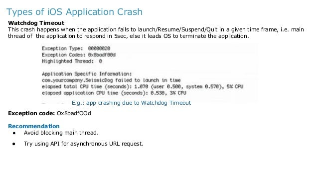 iOS Mobile App crash - Analysis