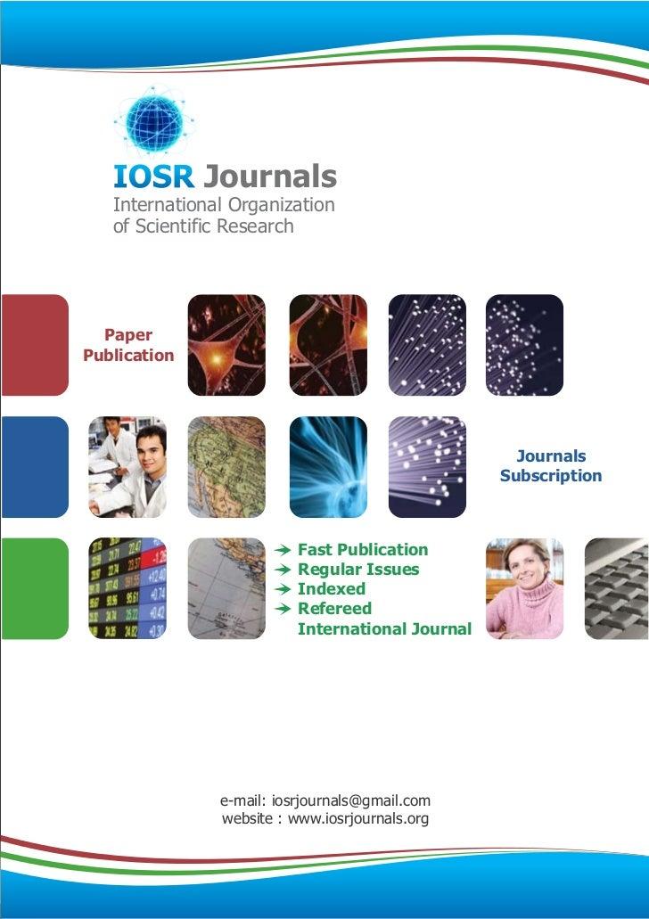 IOSR Journals   International Organization   of Scientific Research  PaperPublication                                     ...
