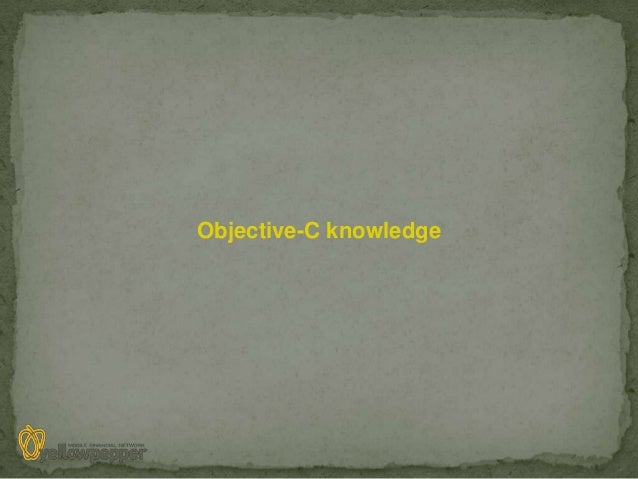 Objective-C knowledge